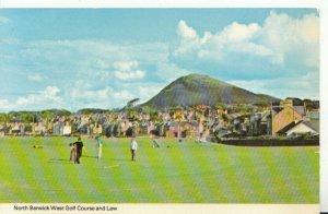 Scotland Postcard - North Berwick West Golf Course and Law - Ref TZ4890