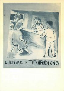Art Postcard, Ehepaar in Tierhandlung (1968) by Jorg Immendorff 74U