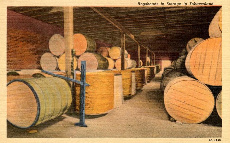 USA - Tobaccoland - Hogsheads in Storage