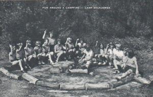 Fun Around A Campfire Camp Sacajawea Artvue