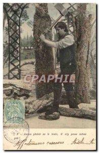 Postcard Old Man Fun Children L & # new 39annee