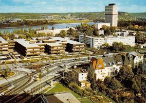 Bonn am Rhein Regierungsviertel und Bundeskanzleramt Panorama