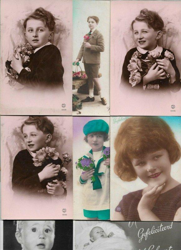 Victorian Style Kids Theme Postcard Lot of 21 01.12