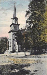 METHODIST CHURCH - Grass Valley, California - Hand-Colored Vintage Postcard