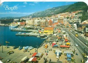 Norway, Norge, Bergen, The Fish Market, unused Postcard