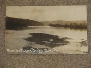 RPPC, River, South From State Bridge, Ulster, Pa., Early 1900`s