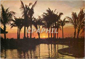 Modern Postcard Treasure Island of the Philippine Plaza at sun