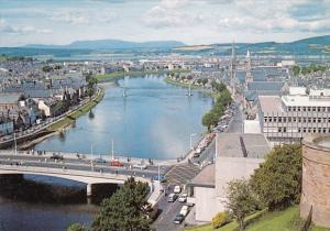 Scotland Inverness and Nees Bridge From The Castle