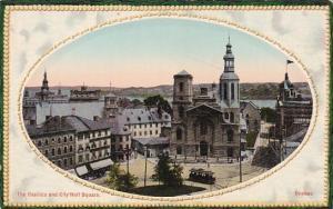 Canada Quebec The Basilica and City Hall Square