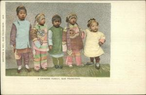 San Francisco CA Chinese Children Native Costumes China c1905 Postcard