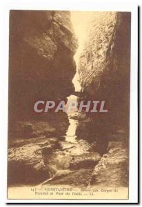 Algeria Constantine Old Postcard Entree Rhummel caves and Devil's Bridge