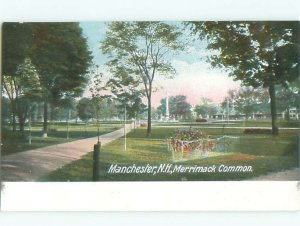 Pre-1907 MERRIMACK COMMON GROUNDS Manchester New Hampshire NH AD8677
