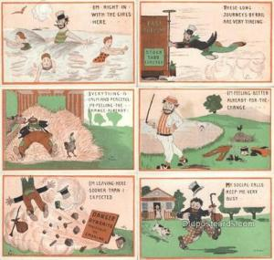 Val Perry 6 Card Set Postcard Old Vintage Antique  Val Perry Set