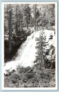 Postcard CA Lake Tahoe Eagle Falls Above Emerald Bay RPPC Frashers Photo B11