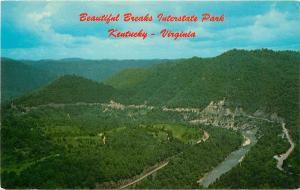 Breaks Interstate Park Kentucky Virginia Postcard
