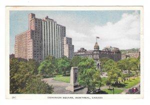 Montreal Canada Dominion Square Vntage 1950s Postcard