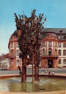 Mainz Fastnacht Brunnen Fountain Street Promenade Auto Cars