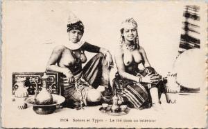 Beautiful African Women Topless Nude 2104 Scenes et Types Algeria Postcard E45