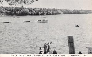 Cass Lake Minnesota~Andy Kitchar's~Fishermen at Pike Hole~Big Winnie~1949 B&W PC