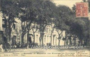 Bureaux et Magsins des Messageries Fluviales Saigon Vietnam, Viet Nam 1906 Wr...