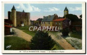 Old Postcard Noirmoutier Chateau Church and I