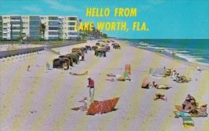 Florida Hello From Lake Worth Beach Scene