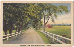 Greetings from White River Junction, Vermont, unused Postcard