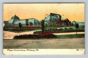 Pittsburg PA-Pennsylvania Phipps Conservatory Vintage c1907 Postcard