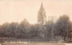 Ohio Postcard Real Photo RPPC 1910 BLOOMINGBURG M.E. Church Building