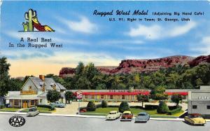 St. George Utah 1940s Postcard Rugged West Motel