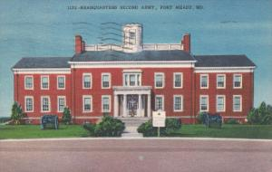 FORT MEADE, Maryland, PU-1954; Headquarters Second Army
