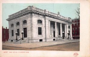 Post Office, Fitchburg, Massachusetts, Very Early Postcard, Unused
