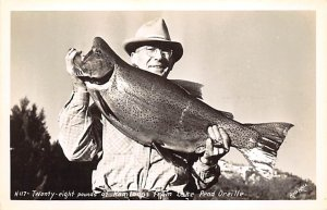 Fishing Postcard Twenty Eight Pounds of Kamloops Lake Pend Orielle Unused