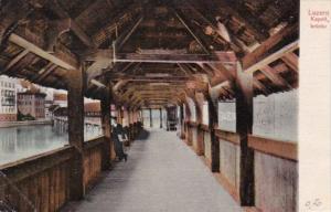 Switzerland Luzern Kapellbruecke 1908