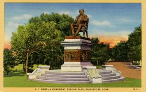 CT - Bridgeport. P.T. Barnum Monument, Seaside Park
