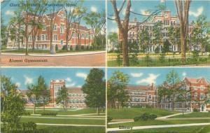 Worcestor Massachusetts~Clark University~Alumni Gym~Atwood Hall~Library~1956