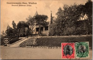 Government House Windhuk South Africa Postcard used 1927/28