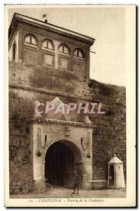 Postcard Old Pucrta Pamplona Ciudadela