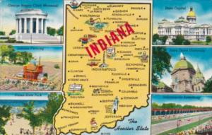 Map Of Indiana The Hoosier State