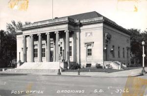 Brookings South Dakota Post Office Real Photo Antique Postcard K63415
