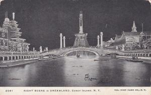 NEW YORK CITY, New York, 1900-1910's; Night Scene in Dreamland, Coney Island