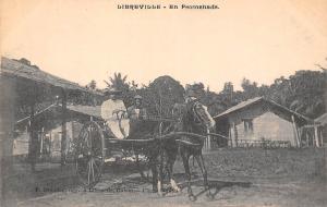 Gabon Libreville - En Promenade, Horse, Carriage