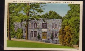 North Carolina colour PC Robinson Infirmary, Mars Hill College, unused