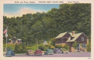 West Virginia Hawks Nest State Park Grille and Picnic Shelter