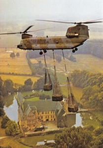 Postcard NEW Boeing Vertol Chinook HC1 No.18 Squadron RAF, Schloss Tatenhausen