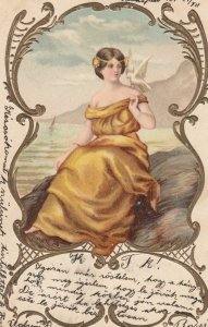 Woman in Yellow , 1907