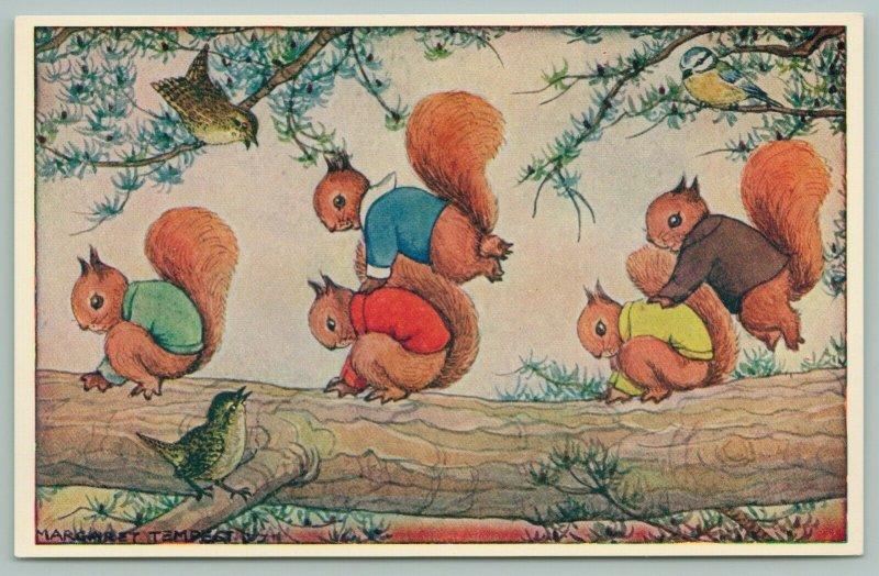 Margaret Tempest Fantasy~Leapfrog~Birds Watch Squirrels Play In The Tree~Medici