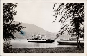 Okanagan Lake BC 'Pendozi' Ferry c1949 Real Photo Postcard G58 *as is
