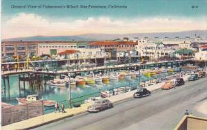 California San Francisco General View Of Fisherman's Wharf 1951