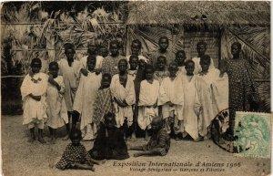 CPA EXPO Internationale d'AMIENS - 1906 - Village Senegalais (514988)
